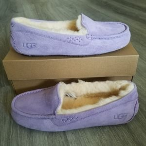 UGG Ansley Water-resistant Suede Slippers.
